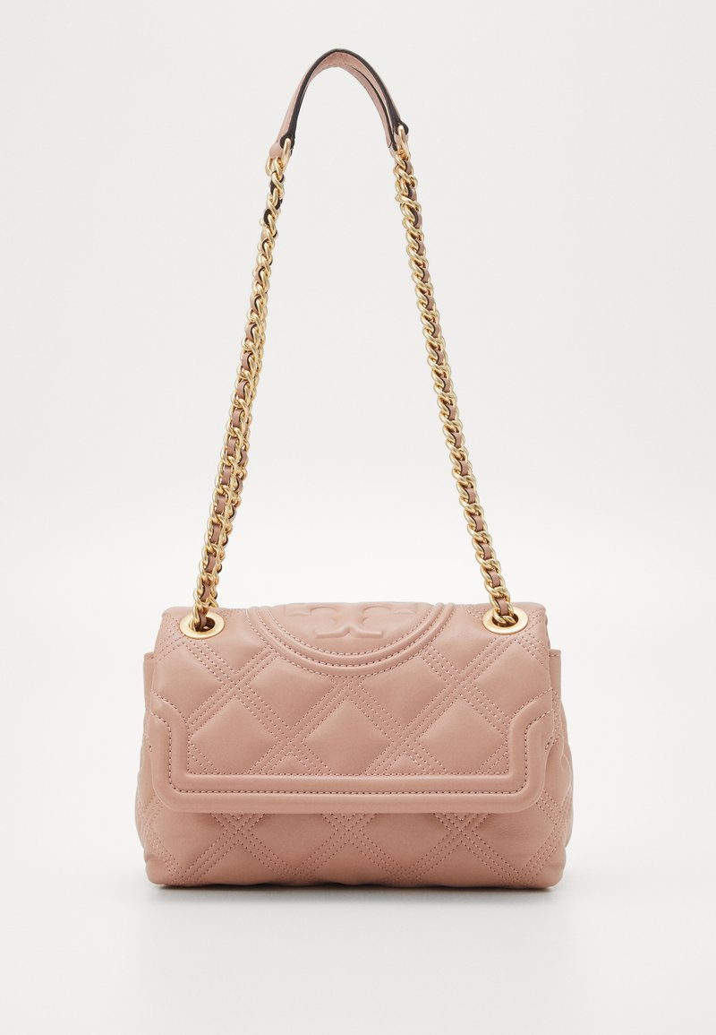 Tory Burch - FLEMING SOFT SMALL CONVERTIBLE SHOULDER BAG - Kabelka - pink moon