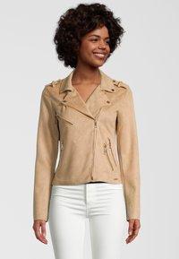 Rino&Pelle - Faux leather jacket - tan - 0