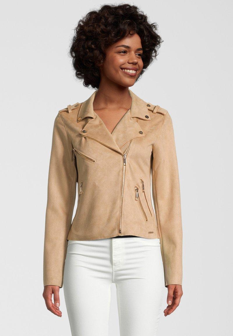 Rino&Pelle - Faux leather jacket - tan