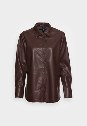 TIFFANY - Button-down blouse - dark red