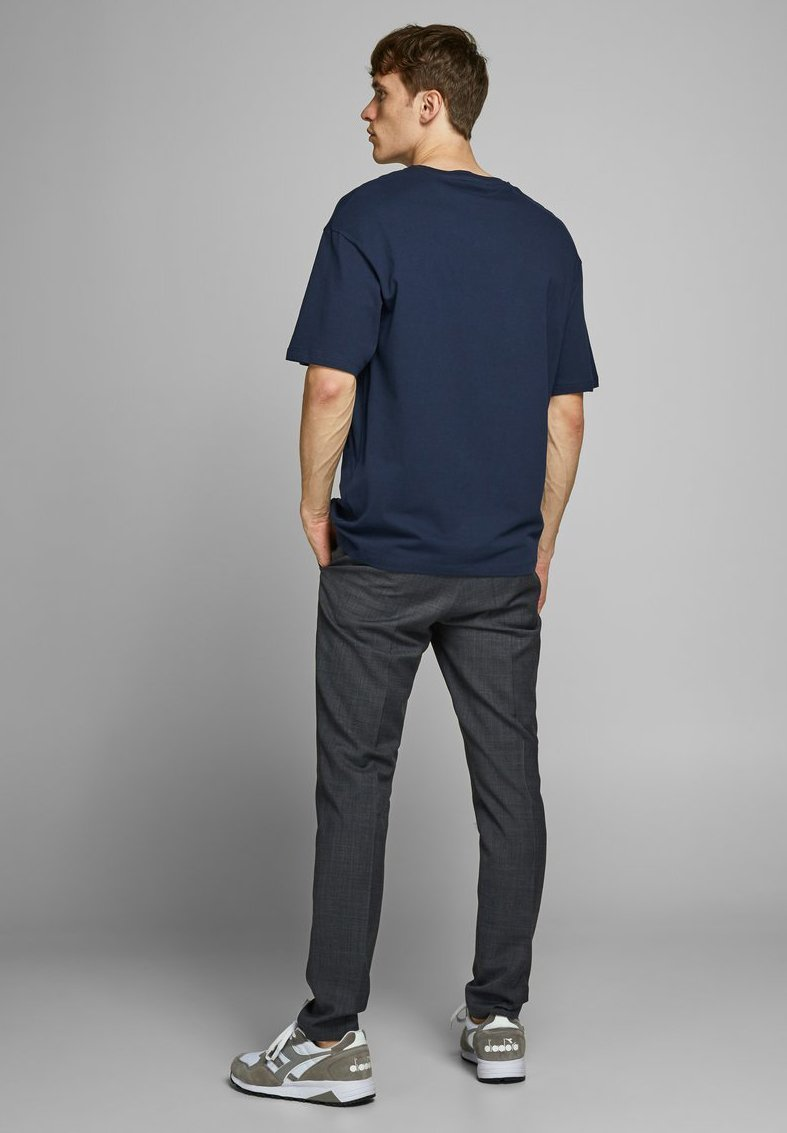 Jack & Jones PREMIUM JPRTUSCAN TEE CREW NECK  - Print T-shirt - navy blazer PpZ6l