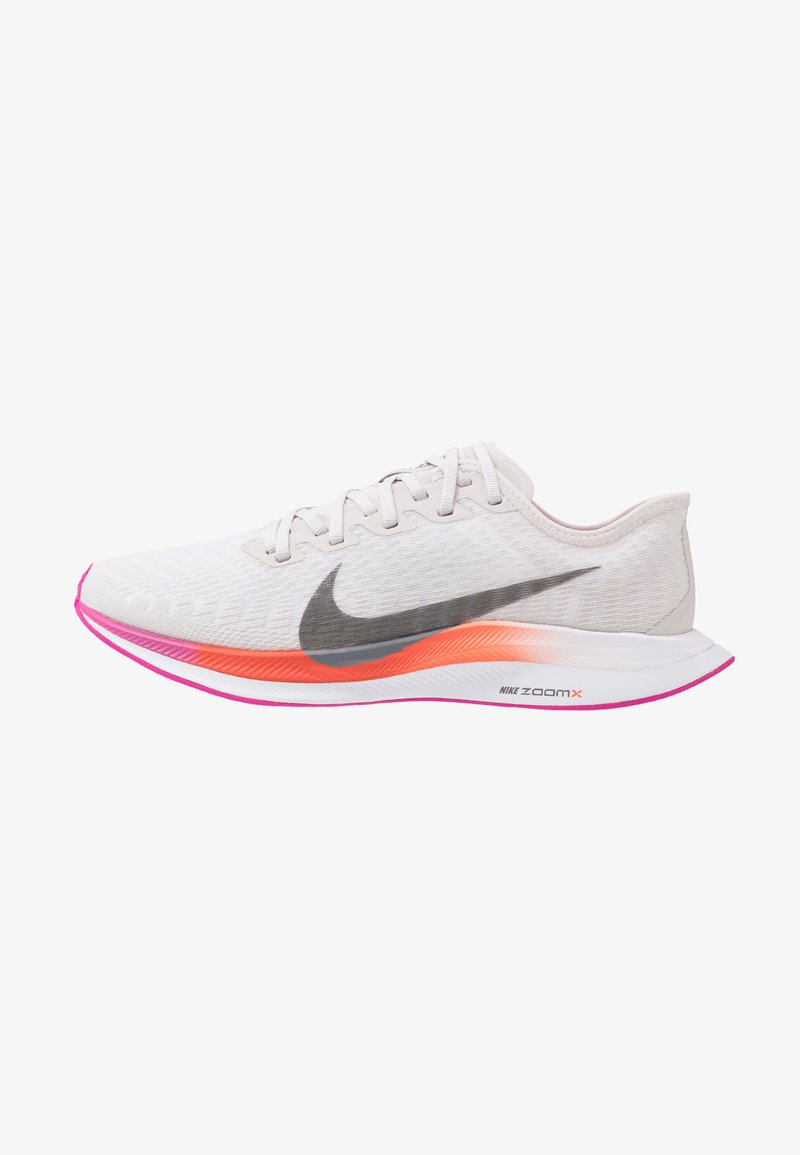 Nike Performance - ZOOM PEGASUS TURBO 2 - Neutral running shoes - vast grey/smoke grey/white/fire pink/team orange/magic ember
