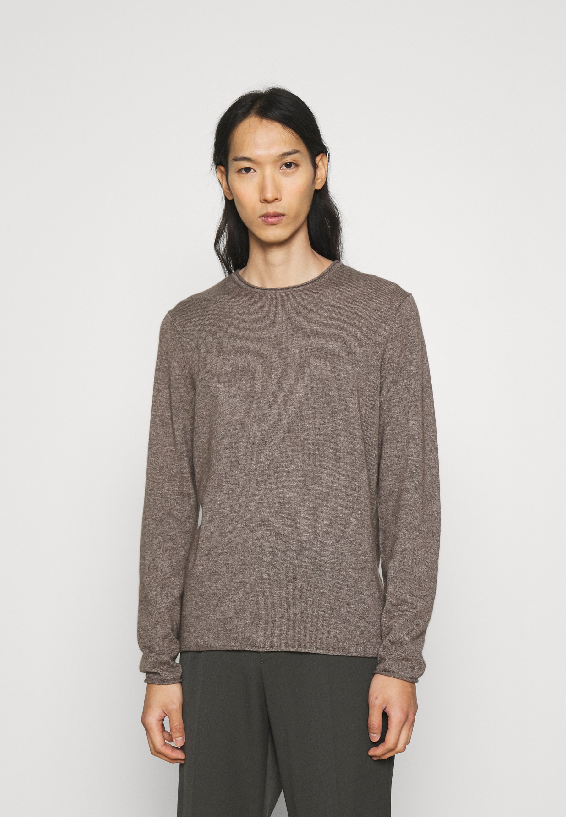 Homme ROUNDNECK ROLLED EDGE - Pullover