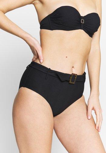 CAPRI SEA WIDE SIDE RETRO - Bikini bottoms - black