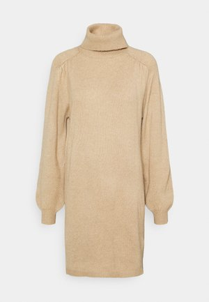 JDYMOE ROLLNECK DRESS - Jumper dress - beige