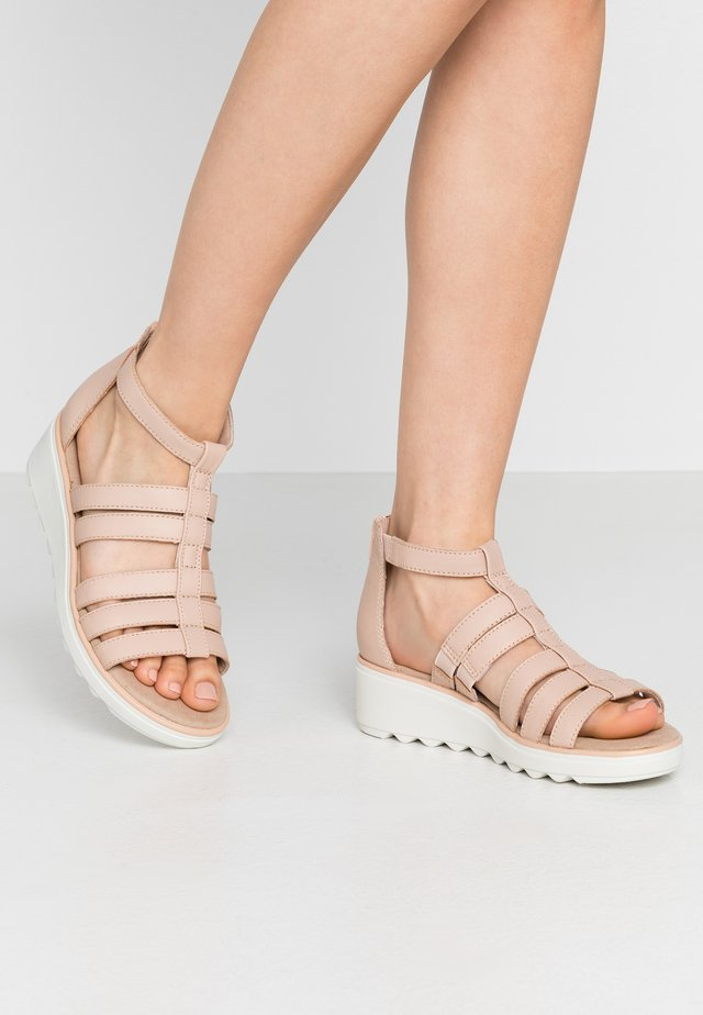 JILLIAN NINA - Platform sandals - blush leather