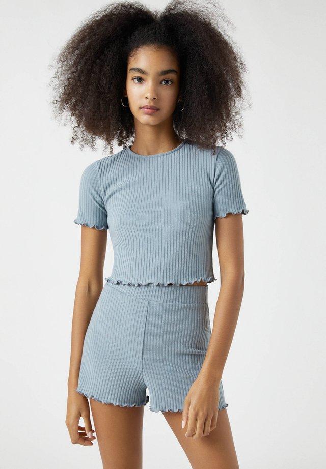 SET - T-shirt imprimé - hellblau