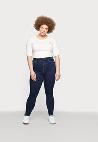ONLY Carmakoma - CAROP LIFE SUPER - Jeans Skinny Fit - dark blue denim - 1
