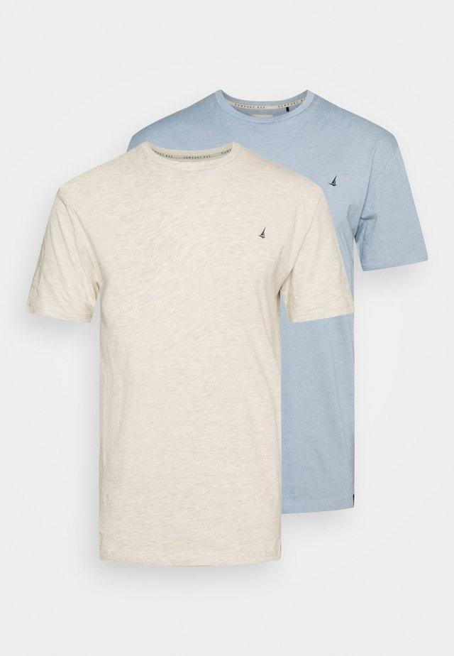 CHEST 2 PACK - T-shirt basic - off white/blue marl