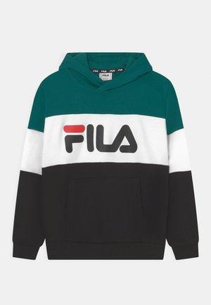 OLENA BLOCKED HOODY UNISEX - Sweatshirt - black/storm/bright white