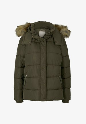 Winter jacket - deep olive green