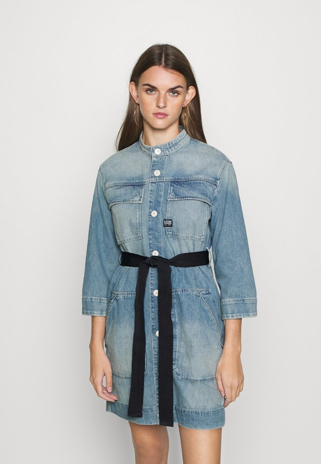 SHIRT DRESS - Denim dress - vintage marine blue