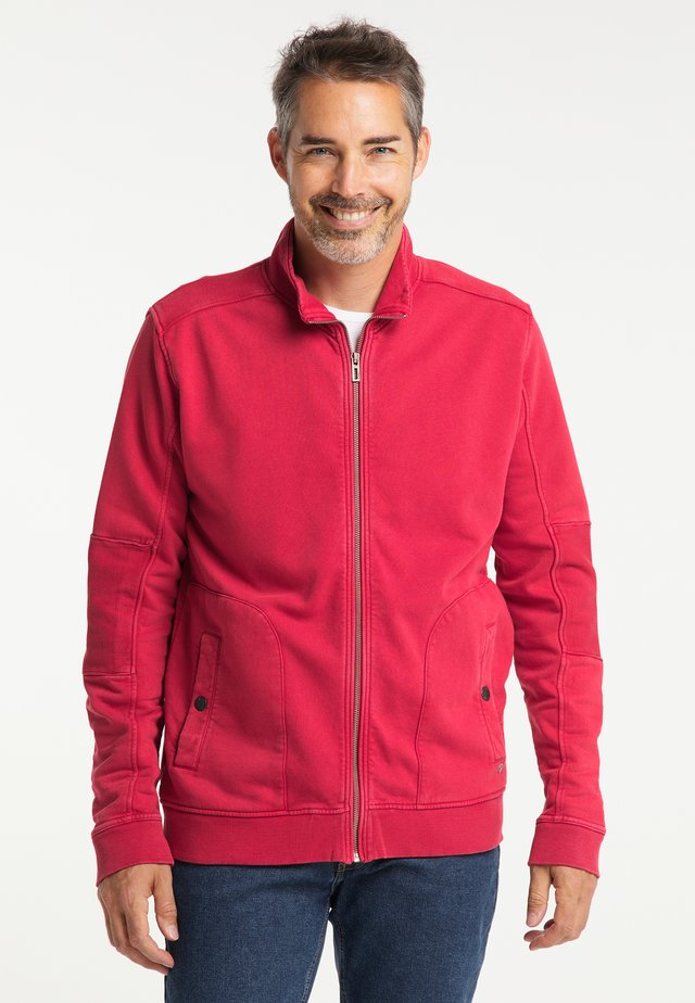 Zip-up hoodie - lava red