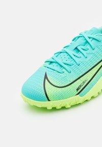 Nike Performance - JR MERCURIAL VAPOR 14 ACADEMY TF UNISEX - Astro turf trainers - dynamic turq/lime glow - 5