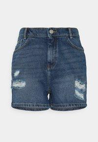 Noisy May - NMLOTTIE SKATE - Shorts di jeans - medium blue denim - 0