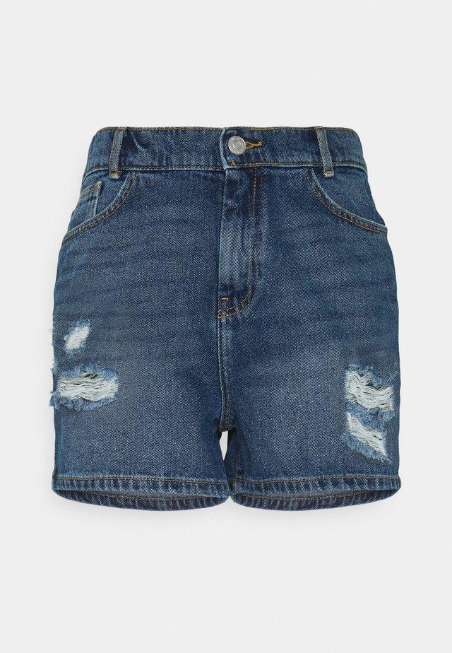 NMLOTTIE SKATE - Shorts di jeans - medium blue denim
