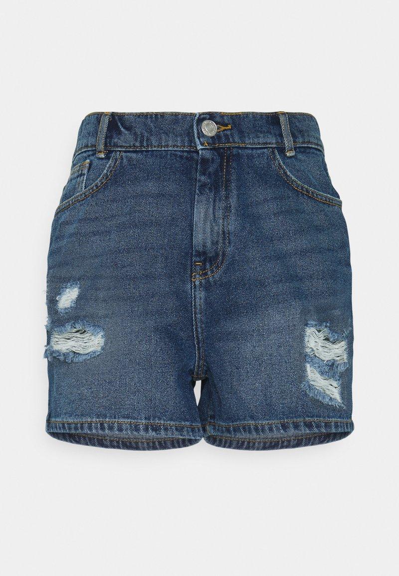 Noisy May - NMLOTTIE SKATE - Shorts di jeans - medium blue denim