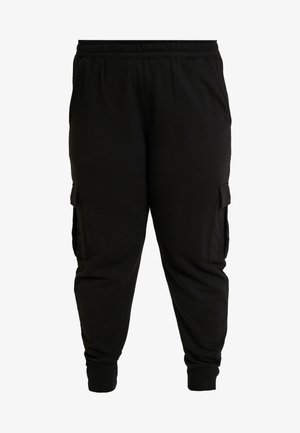 UTILITY POCKET HIGH WAISTED - Tracksuit bottoms - black