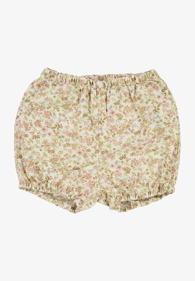Shorts - eggshell flowers