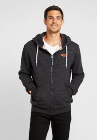 Superdry - ORANGE LABEL CLASSIC ZIPHOOD - Zip-up hoodie - nightshade black marl - 0