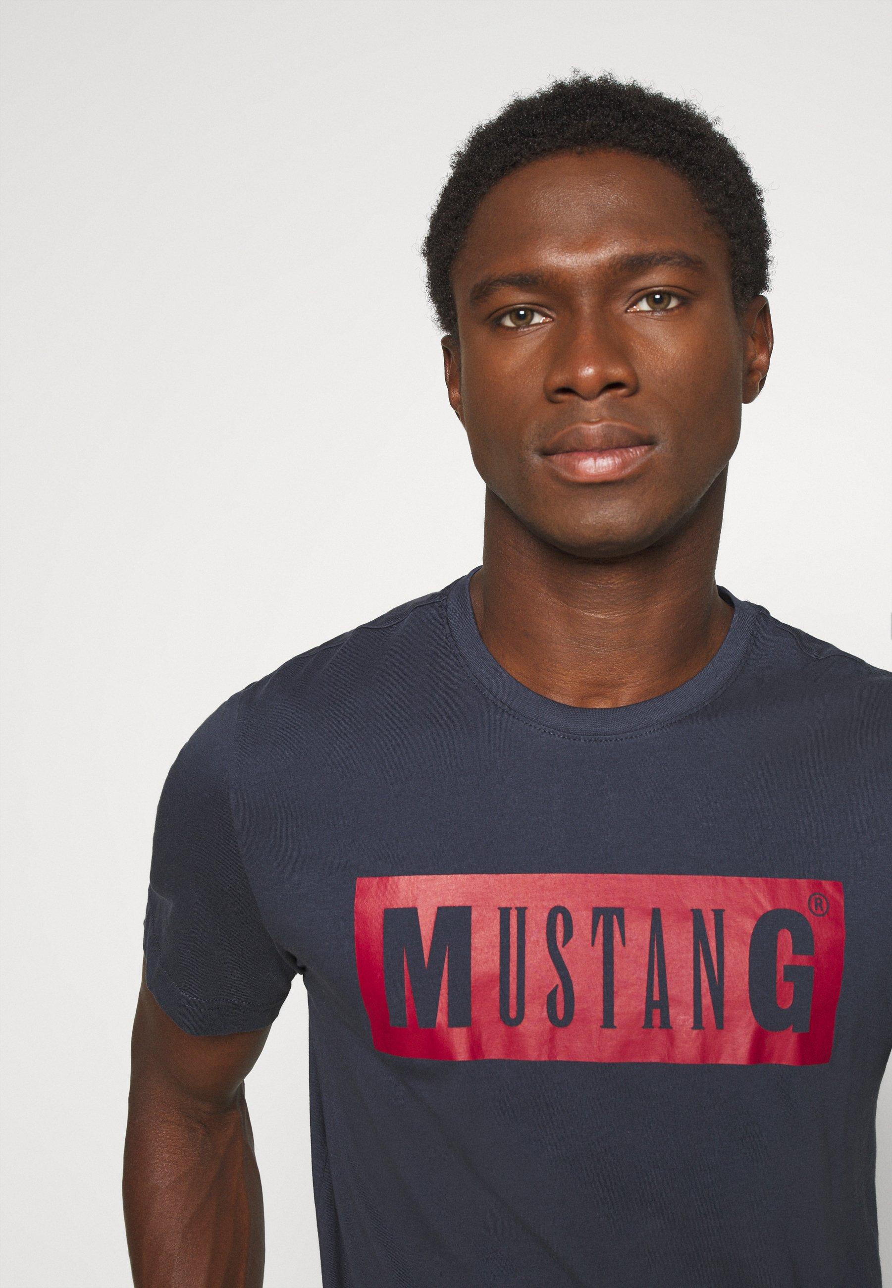 Mustang ALEX LOGO TEE - Print T-shirt - blue nights q09Ys
