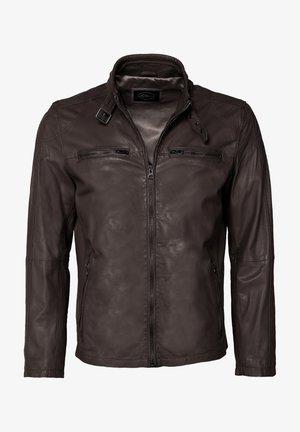 MIT SCHNALLE - Leren jas - brown