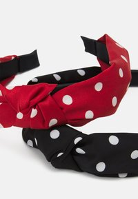 ONLY - ONLDOBBY HAIRBAND 2 PACK - Hair Styling Accessory - black/red - 2
