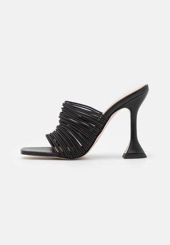 DIVINE - Heeled mules - black