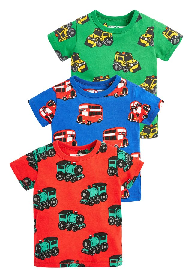 MULTI 3 PACK PRINTED TRANSPORTS T-SHIRTS (3MTHS-7YRS) - T-shirt con stampa - green