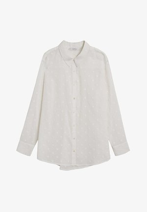 Button-down blouse - cremeweiß
