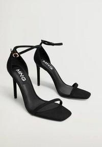 Mango - Sandály na vysokém podpatku - černá - 2