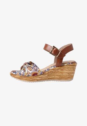 Wedge sandals - choco