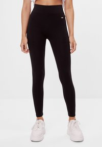 Bershka - Legging - black - 0