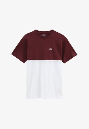 COLORBLOCK TEE - T-shirts print - port royale-white