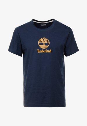 STACK LOGO TEE - T-shirt imprimé - dark sapphire