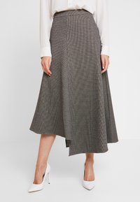 Apart - GLENCHECK SKIRT - Maxi skirt - cream/taupe - 3