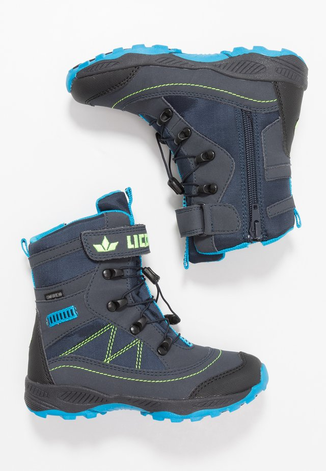 SUNDSVALL VS - Winter boots - marine/blau/lemon