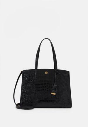 WALKER EMBOSSED SATCHEL - Kabelka - black