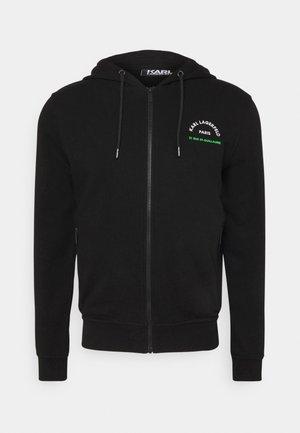 HOODY - Zip-up hoodie - black