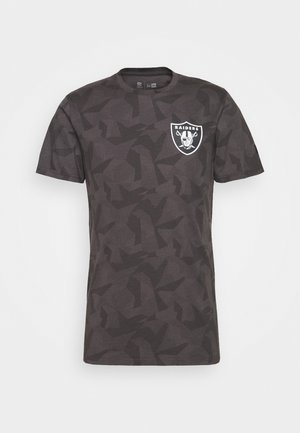 NFL OAKLAND RAIDERS TEE GEOMETRIC - Print T-shirt - dark grey