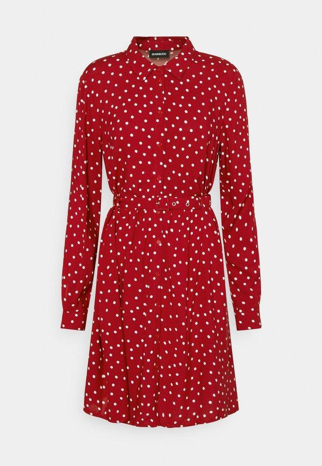 Shirt dress - red/white