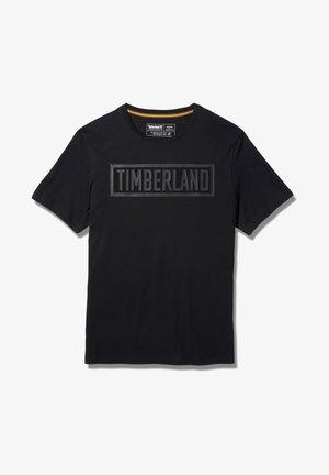 MINK BROOK LINEAR LOGO - Print T-shirt - white