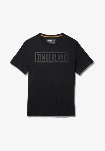 MINK BROOK LINEAR LOGO - T-shirt imprimé - white
