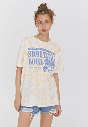MIT MARGERITENMOTIV - Print T-shirt - beige