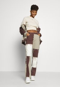 Jaded London - PATCHWORK  BOYFRIEND FIT WITH FRAYED SEAMS - Jeans relaxed fit - brown - 1