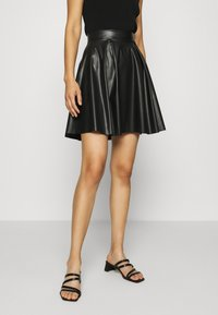 Anna Field - Fake Leather mini A-line skirt - Mini skirt - black - 0