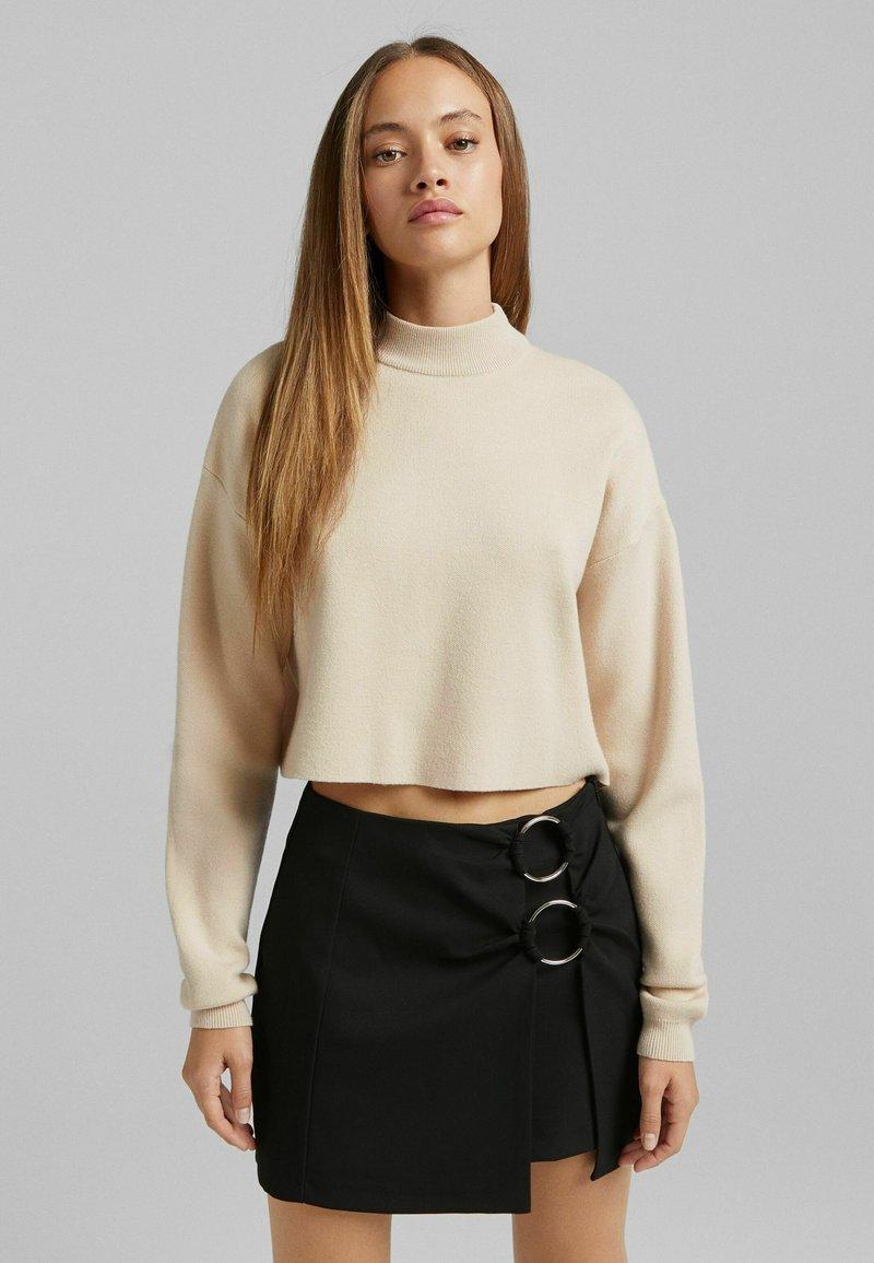 Bershka - A-line skirt - black