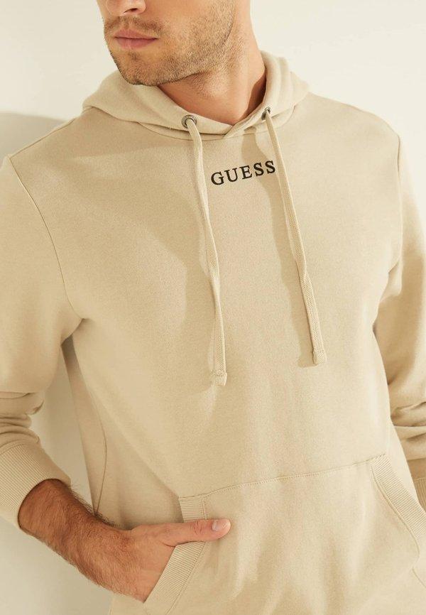 Guess Bluza z kapturem - beige/beżowy Odzież Męska BSBD