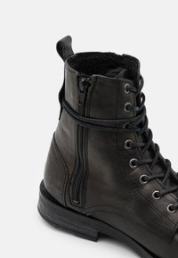 Walk London - STIGMA BOOT - Lace-up ankle boots - black - 3