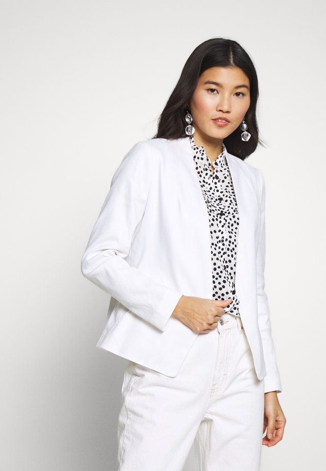 COLLARLESS SOLID - Blazer - white